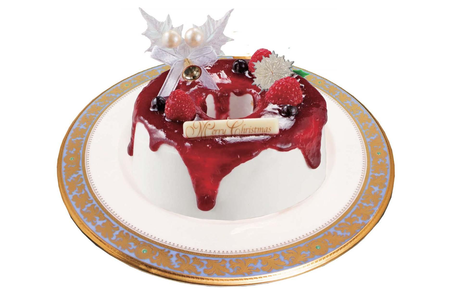 黒スグリホワイトキャラメルシフォンケーキ